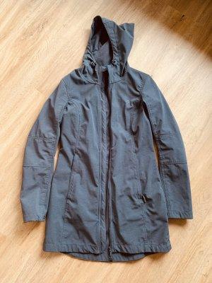 Mountain Warehouse Płaszcz z kapturem szary-szary niebieski