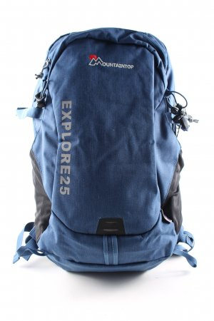 Mountaintop Trekking Backpack blue-black casual look
