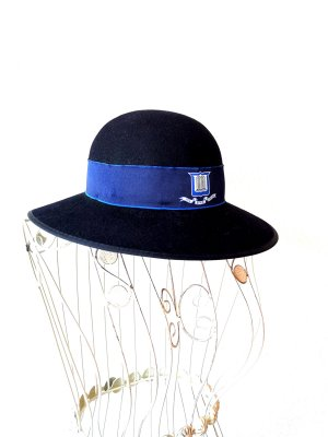Cappello cloche blu scuro
