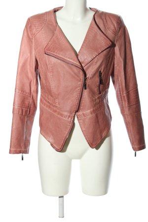 Mouvance Kunstlederjacke pink Casual-Look