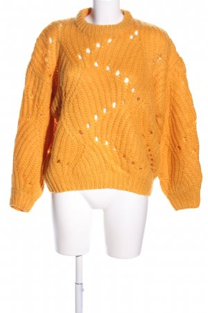 MOVES by Minimum Grobstrickpullover hellorange Zopfmuster Casual-Look