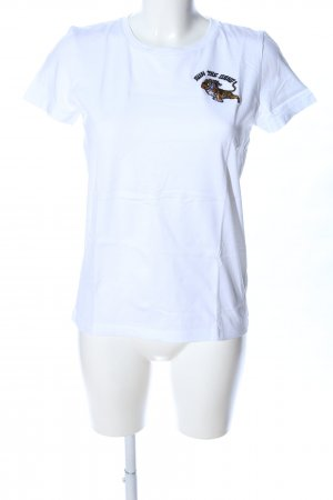 MOVES by Minimum T-Shirt weiß Animalmuster Casual-Look