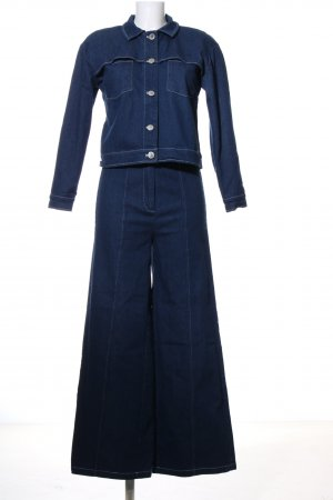 MOVES by Minimum Web Twin Set blau Casual-Look