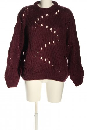 moves Sweter z grubej dzianiny różowy W stylu casual
