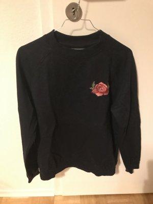 Moves Pullover blau mit Blumenmuster