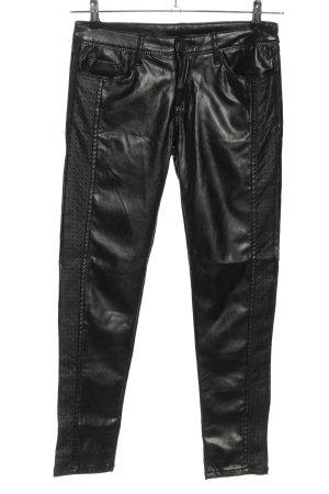 Mozzaar Five-Pocket-Hose schwarz Casual-Look