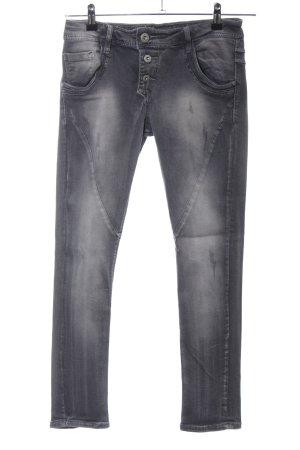 Mozzaar High Waist Jeans schwarz Casual-Look