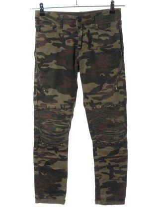 Mozzaar Straight-Leg Jeans Camouflagemuster Casual-Look