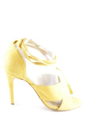 MPS High Heel Sandaletten blassgelb Casual-Look