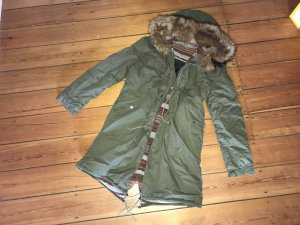 Mr Italy Parka Army Luxus Fell Pelz Mantel