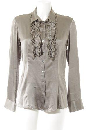 Mr.Mrs. Shirt Rüschen-Bluse ocker Business-Look