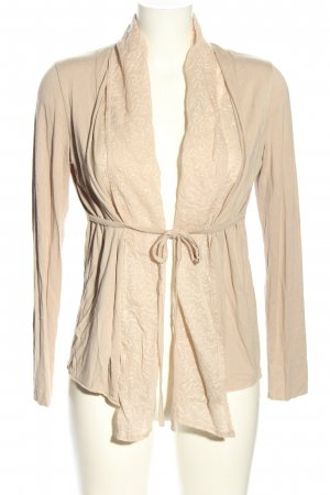 MRL Cardigan creme abstraktes Muster Casual-Look