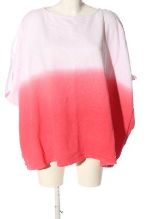 Mrs. Foxworthy Oversized Shirt rot-weiß Farbverlauf Casual-Look