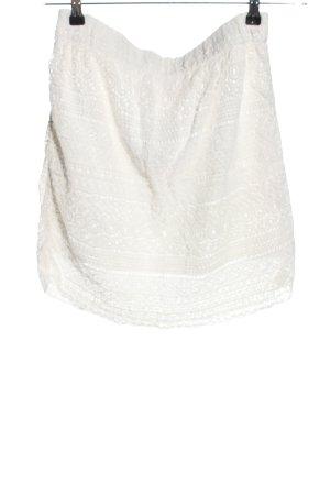 Mrs. Foxworthy Koronkowa spódnica biały W stylu casual