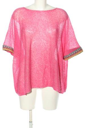 Mrs. Foxworthy Strickshirt pink meliert Casual-Look