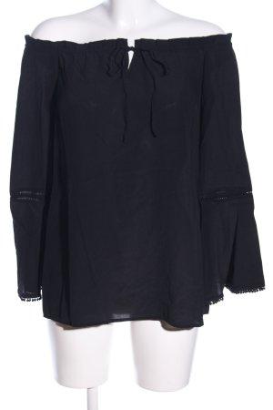 Mrs & HUGS Carmen-Bluse schwarz Casual-Look