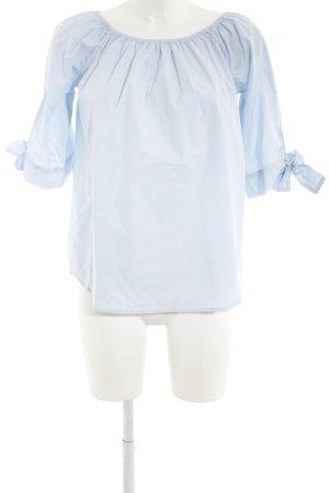 Mrs & HUGS Blusa alla Carmen azzurro stile casual
