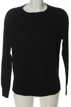 Mrs & HUGS Feinstrickpullover schwarz Casual-Look