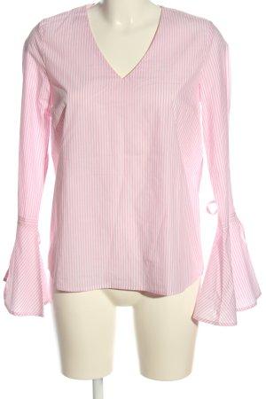 Mrs & HUGS Hemd-Bluse pink-weiß Streifenmuster Casual-Look