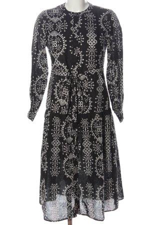 Mrs & HUGS Hemdblusenkleid schwarz-weiß abstraktes Muster Casual-Look