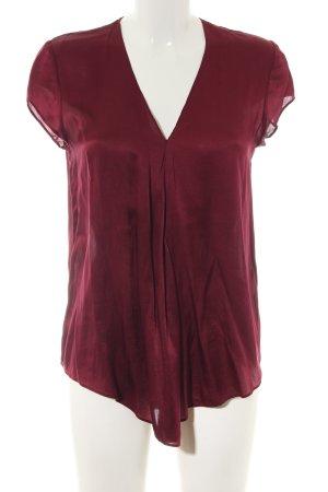 Mrs & HUGS Kurzarm-Bluse rot Casual-Look