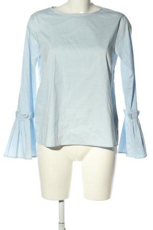 Mrs & HUGS Langarm-Bluse blau Business-Look