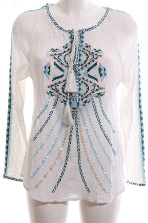Mrs & HUGS Langarm-Bluse mehrfarbig Casual-Look