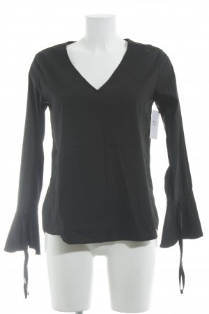 Mrs & HUGS Langarm-Bluse schwarz Casual-Look