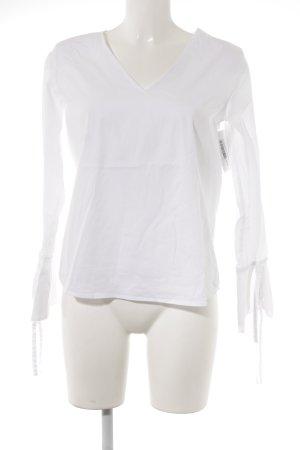 Mrs & HUGS Langarm-Bluse weiß schlichter Stil