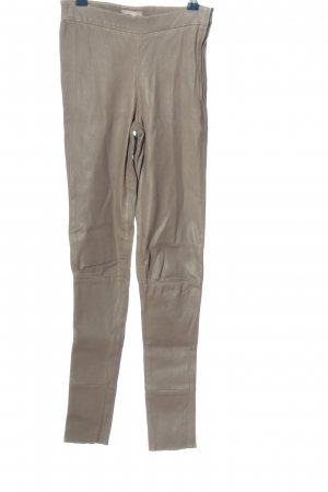 Mrs & HUGS Leather Trousers light grey wet-look