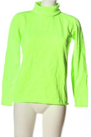 Mrs & HUGS Rollkragenpullover grün Casual-Look