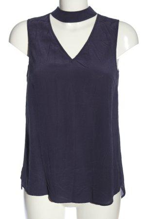 Mrs & HUGS Schlupf-Bluse blau Business-Look