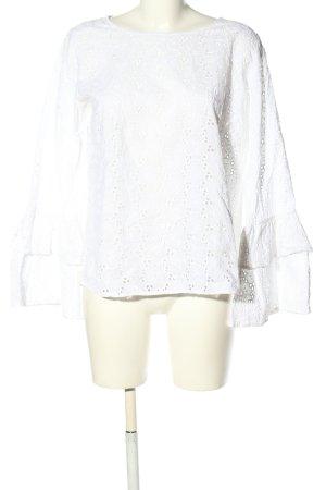 Mrs & HUGS Schlupf-Bluse weiß Casual-Look