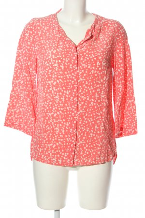 Mrs & HUGS Silk Blouse pink-white allover print casual look