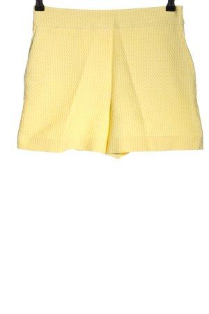 Mrs & HUGS Shorts blassgelb-weiß Allover-Druck Casual-Look