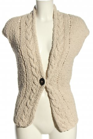 Mrs & HUGS Knitted Vest natural white cable stitch casual look