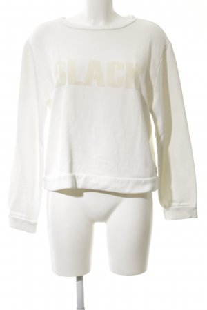 Mrs & HUGS Sweatshirt wollweiß Motivdruck Casual-Look