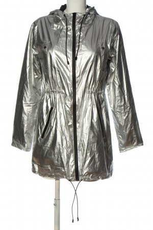 Mrs & HUGS Übergangsjacke silberfarben Casual-Look