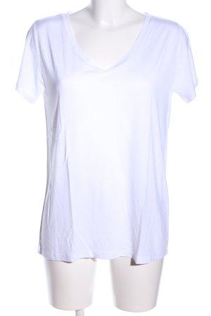 Mrs & HUGS V-Ausschnitt-Shirt weiß Casual-Look