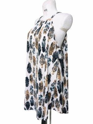 MRT 1030 Damen Sommer Kleid Federn XL