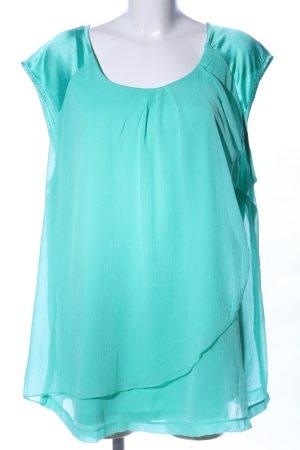 Ms mode ärmellose Bluse türkis Elegant