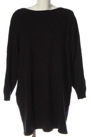 Ms mode Sweaterjurk zwart casual uitstraling