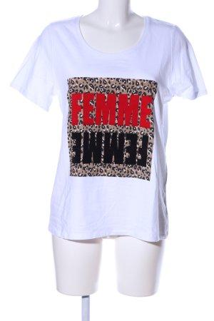 Ms mode T-Shirt weiß Schriftzug gedruckt Casual-Look