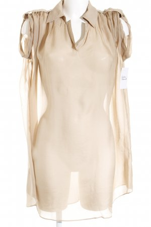 Ms. Money Penny Transparenz-Bluse beige Casual-Look