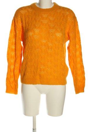 MSCH Copenhagen Jersey de punto grueso naranja claro punto trenzado look casual