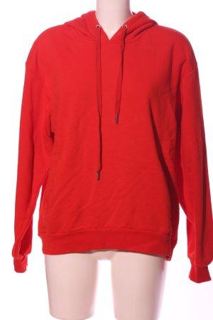 MSCH Copenhagen Hooded Sweatshirt red casual look
