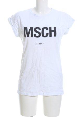 MSCH Copenhagen T-Shirt weiß Schriftzug gedruckt Casual-Look