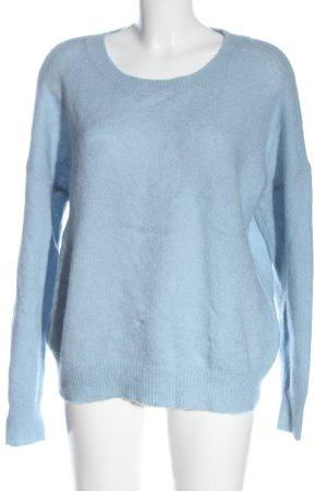 MSCH Copenhagen Jersey de lana azul punto trenzado look casual