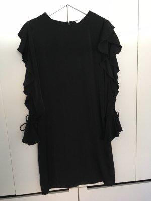MSCH Kleid, schwarz, knielang, offene Ärmel, Gr. S