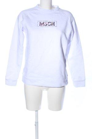 Sweatshirt weiß Motivdruck Casual-Look